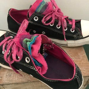 Converse All Star Party Ox black canvas sneakers
